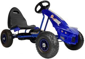 Kinder Go Kart Super Speed Champion Predator Tretauto Gokart Luftreifen 3-8 Jahre Blau
