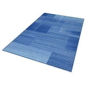 Teppich Boss Design Kurzflorteppich Teppich Marble kariert meliert Karo, Farbe:blau/himmelblau, Größe:160x230 cm