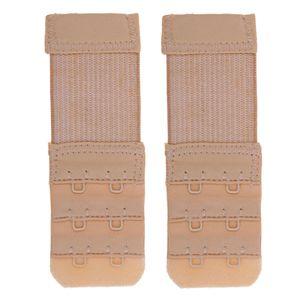 1 Paar BH Verlängerung Verschluss Erweiterung BH Extender 2 Haken Elastisch Band Gurt, Hautfarbe