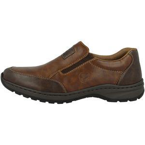 Rieker 03354 Herren Halbschuhe Slipper extra weit, Größe:45 EU, Farbe:Braun