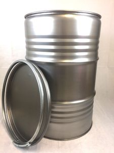 Metallfass 210 Liter Blechfass Fass Ölfass Tonne mit Deckel Blank
