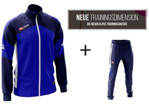 alpas Trainingsanzug  Dynamic Blau Gr. XXL Sportanzug Jogginganzug