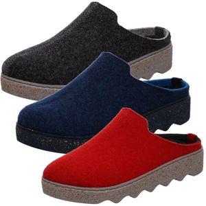 Rohde Damen Pantoffeln Hausschuhe Softfilz Foggia 6120, Größe:40 EU, Farbe:Blau