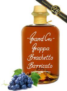 Grand Cru Grappa Brachetto Barricato Riserva 0,7 L 18 Mon. Barrique gereift 42%Vol