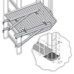 Hailo Abschluss-Podest für Rückenschutzleitern aus Aluminium