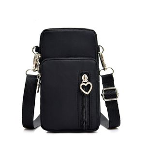 Umhängetasche Damen Klein, Handy Mini-Tasche Kleine Schultertasche Multifunktionale Handytasche mit Vielen Fächern Crossbody Tasche für Damen, Schwarz