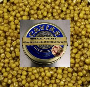 Kaviar Imperial Auslese 50g - mit leichtem und raffiniert buttrigem Geschmack (auch in 100, 125 und 250g Dosen bei uns erhältlich)