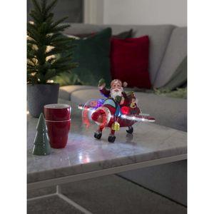 Konstsmide Dekorationsbeleuchtung Weihnachtsmann im Flugzeug Neu