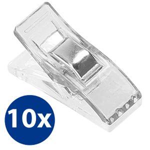 10x Stoffklammern Nähklammern Nähclips WonderClips Nähzubehör transparent