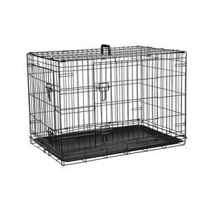 Hundebox Hundetransportbox Transportbox Autotransportbox faltbar 91 oder 107cm, Größe:XXL 107x77x71 cm