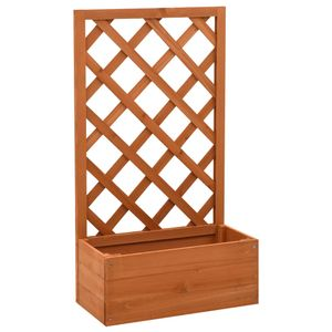 vidaXL Garten-Spalier mit Blumenkasten Orange 50x25x90 cm Tannenholz