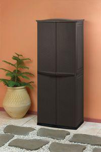 KETER-Rattan Style Utility Shed-Aufbewahrungsschrank-espressobraun-6032