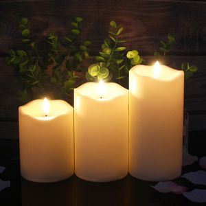 Flammenlose Kerzen 3 Stück / Set | Fernbedienung, Neujahrskerzen, Teelampen, Osterkerze mit Verpackung