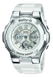 Casio Damenuhr BGA-110-7BER weiss AnaDigi Baby-G Uhr