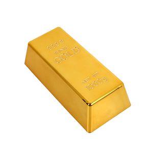 Goldbarren-Tš¹rstopp-Gesch?ftsgeschenk sammelbarer Kunststoff goldene Simulation Briefbeschwerer Requisiten Spielzeug