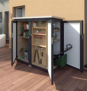 Gartenschrank / Geräteschrank 18mm WEKA Teras anthrazit 160x75cm
