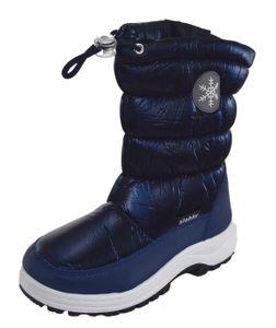 Jungen Winterstiefel Schneestiefel gefüttert Blau Größe 32