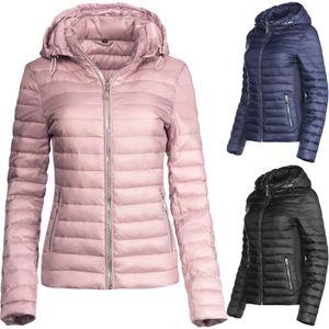 Trisens Damen Übergangsjacke Zipper Steppjacke Frühlingsjacke, Farbe:Dunkelblau, Größe:XL