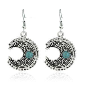 Ornamente Mond Türkis Ohrringe