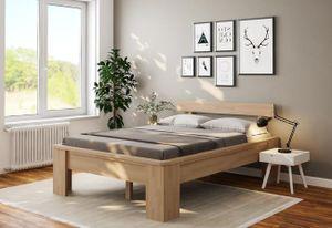 Einzelbett Komfortbett Buche 120x200 Holzbett erhöhte Liegefläche Bett Seniorenbett - (4135)