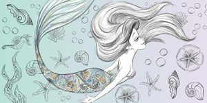 Disney Arielle die Meerjungfrau Badetuch Strandtuch - XXL 70x140cm