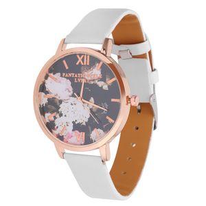 Damen Uhr Leder Armband Lederband Damenuhr Wasserdicht Geburtstag Geschenk Für Frauen Farbe Weiß 1