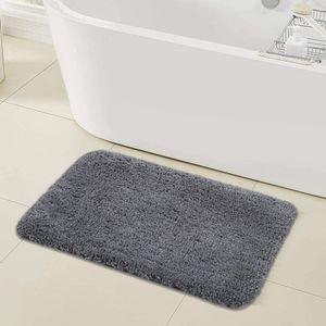 Saugfähige Fußmatten, Badezimmerteppiche, rutschfeste Badematten, weiche und flauschige Badematten, flauschige hochflorige Mikrofaser-Badematten