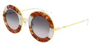 Gucci GG0113S 010 Sonnenbrille Grau