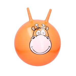Kinder Hüpfball mit Griffe Sprungball Hopser Ball Gymnastikball Tiermotiv Giraffe Tragkraft max. 50 kg