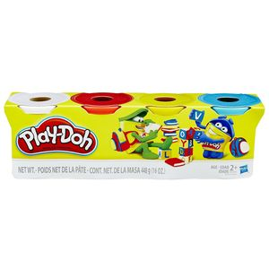 Play-Doh 4er Pack Grundfarben blau, gelb, rot, weiß