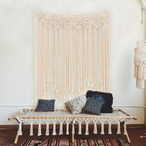 Boho Makramee Wandbehang Tapestry Tür Fenster Vorhang Hochzeit Hintergrund