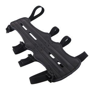 Leder Bogensport Armschutz mit 4 Riemen
