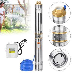 LZQ 1100W/1.5hp Tiefbrunnenpumpe Brunnenpumpe bis 4.000 l/h Sandverträglich Tauchdruckpumpe Edelstahl Wasserpumpe Gartenpumpe