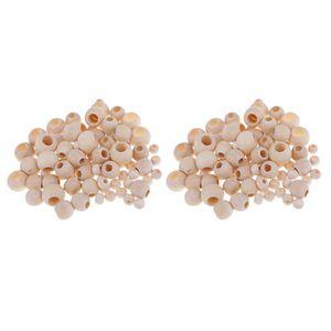 440x Natürliche Makramee Perlen Perle Großes Loch für DIY Ohrringe Schmuck Perlen