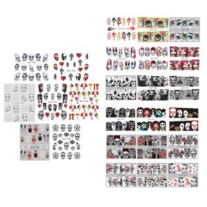 25 Blatt Nagelaufkleber Abziehbilder Wassertransfer Sticker Halloween Nagelsticker Nagel Aufkleber Nageltattoos für Frauen DIY