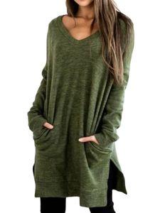 Lässiger Pullover für Damen mit lockerem Pullover,Farbe: Grün,Größe:3XL
