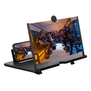 14 Zoll Telefon Bildschirm Lupe HD3D-Handy-Bildschirmlupe für alle Smartphone-Modelle Schwarz