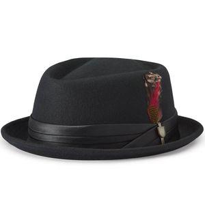 Brixton Mütze STOUT PORK PIE, Größe:M, Farben:black/black