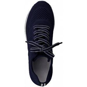 MARCO TOZZI Damen-Sneaker-Schnürhalbschuh Blau , Farbe:blau, EU Größe:40
