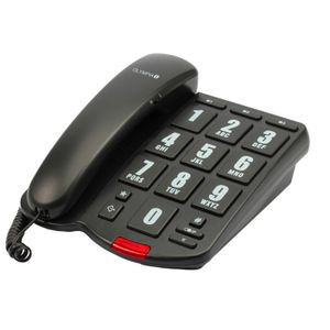 OLYMPIA 4205 Großtasten Komforttelefon Senioretelefon mit visueller Rufanzeige