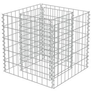 vidaXL Gabionen-Hochbeet Verzinkter Stahl 50×50×50 cm