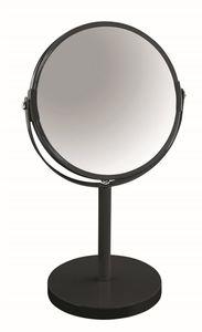 """Spirella Schminkspiegel Kosmetikspiegel Standspiegel Badezimmerspiegel """"Sydney"""" 2-Fach Vergrößerung - Ø 17cm - Schwarz"""