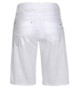 GANG JEANS Amelie Shorts lässige Damen Sommer-Hose Weiß, Größe:W26