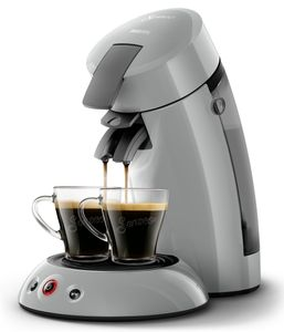 Philips Senseo Kaffeepadmaschine HD 6553/70 Original, Farbe Hellgrau