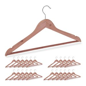relaxdays 24 x Zedernholz Kleiderbügel Garderobenbügel Holzbügel Bügel Set Blusenbügel