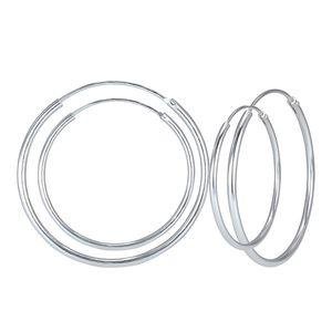 Creolen Ohrringe 925 Silber 30 oder 50 mm, Größe:30 mm