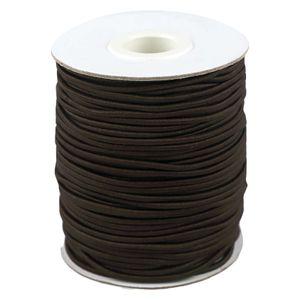 50m Spule Gummikordel Gummischnur 2mm Bekleidungsgummi Hutgummi, 29 Farben, Farbe:graubraun