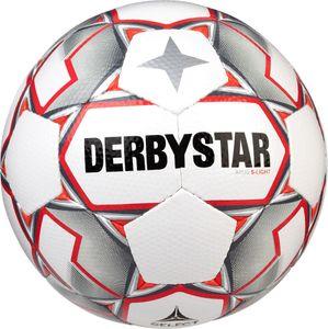 DERBYSTAR Apus S-Light 290g Leicht-Fußball weiß/grau/rot 3