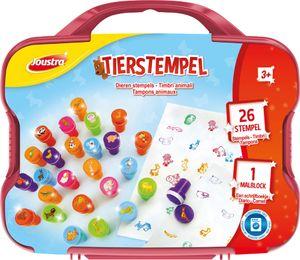 """Joustra Motivstempel-Set """"TIERSTEMPEL"""" im Koffer"""