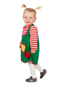 Wilbers Kinderkostüm Grünes Kleid 80 bis 98  cm - freches Mädchen 80 cm